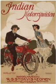 Vintage Dutch motorcycle advertisment - Indian Motorcycles